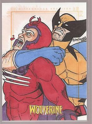 2009 Marvel X-Men Origins: Wolverine & Magneto sketch by MARK DOS SANTOS