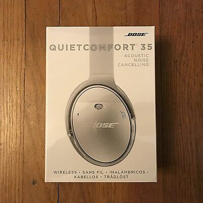 New Bose QuietComfort 35 wireless headphones, Noise Cancelling, Silver, QC35