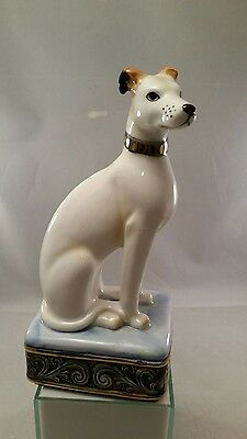 Vintage R.O. Japan Porcelain Greyhound Dog Figurine