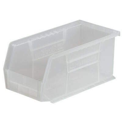Industrial Grade Polymer Hang/Stack Bin,H 10, W 11,D 18,Clear, 30260SCLAR, Clear