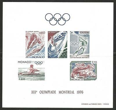 MONACO #1026a Mint (The RARE Proof) MONTREAL OLYMPIC GAMES of 1976 - RRR