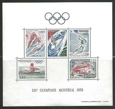 MONACO #1026a Mint NH (Sheet and Imperf Sheet) MONTREAL OLYMPIC GAMES of 1976