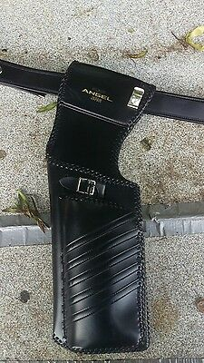 Black Leather Angel Quiver and belt (size large)