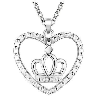 New Fashion Jewelry 925 Silver fine gift cordate crown necklace Female Pendant