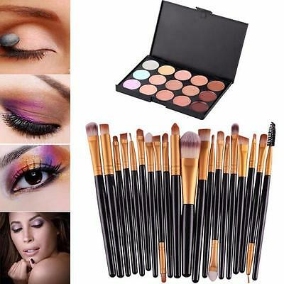 1 PALETTE con 15 correttori in crema make up +20 pennelli set vedi foto inserz.