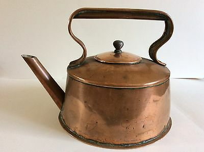 Vintage Hand Made Solid Copper Kettle