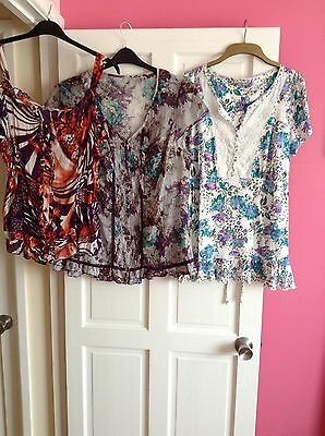 Ladies Size 18 Marks & Spencer Bundle Of 3 Tops ( Great Condition)