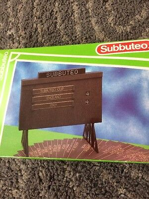 SUBBUTEO Table Soccer football 61158 SCOREBOARD with card inserts