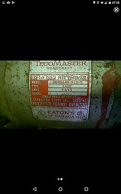electric motor 3/4hp 3450rpm TecoMaster