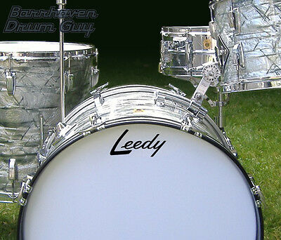 Leedy, 60s Vintage, Repro Logo - Adhesive Vinyl Decal, for Bass Drum Head