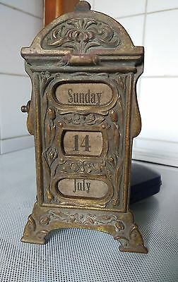 Original art nouveau desk calender for restoration