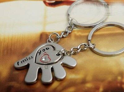 Creative Hand Couple Lover Gift Pendant Key Chain Keyring Ring Keychain
