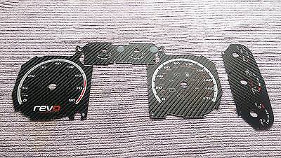 Ford Focus Mk2 RS/ST Carbon Dial/Gauge Conversion Kit, Game Over Red FL 1.8