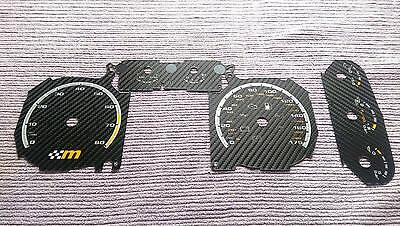Ford Focus Mk2 RS/ST Carbon Dial/Gauge Conversion Kit, Yellow M FL 1.8