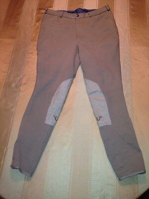 Gutos Breeches Men's Size 34 Equestrian Riding Pants Light Tan Inseam 28 Long