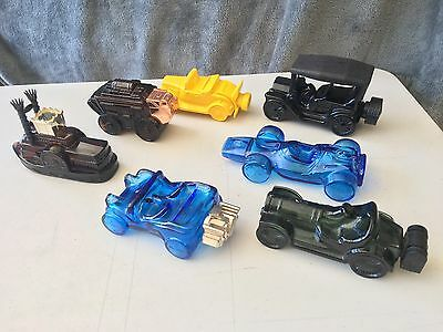 Avon Vintage Car Decanters Lot of 7  in Original Boxes