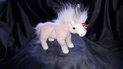 """Official TY Beanie Baby Unicorn """"Charmer"""" with tag"""