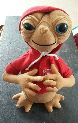 Rare E.T. SOFT TOY with RED HOODY - Universal Studios 1980s - 26cm (ET)