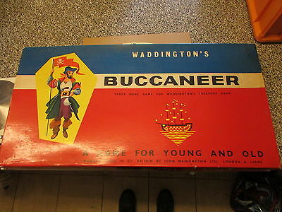 Vintage Board Game - Waddingtons -  Buccaneer - 1958 ?? - Nearly Complete ??