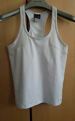 Nike dri fit white fitness running women vest top size small