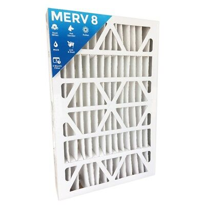"16x25x4 MERV 8 Air Filters for AC & Furnace.  2 Pack (Actual Depth: 3-3/4"")"