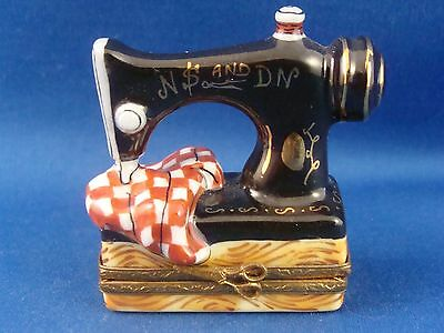 Sewing Machine - authentic FRENCH LIMOGES box