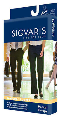 SIGVARIS 504T Natural Rubber 40-50 mmHg Open Toe Unisex Thigh Hi w/Grip Top