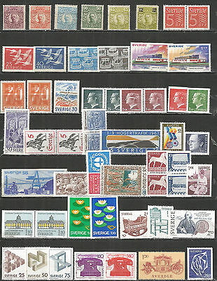 Sweden  a nice small collection  mint stamps MNH (**) original gum
