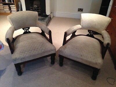 Pair of Antique/Victorian Tub Chairs