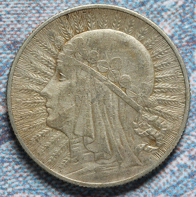 Poland 1932  - 5 ZLOTYCH, Eagle 28mm -Foreign coin