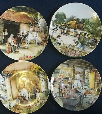 Set of 4 Limited Edition Royal Doulton Old Country Crafts Plates by Susan Neale
