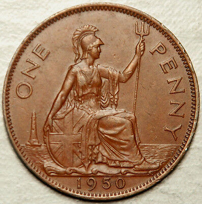 Great Britain 1 Penny 1950 (Scarce Date!) Lot #1