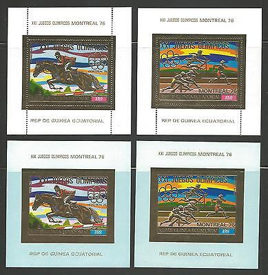Guinea Ecua.VF NH-1976 Olympic games Montreal -3 Perf + 3 Imperforated Sheet RRR