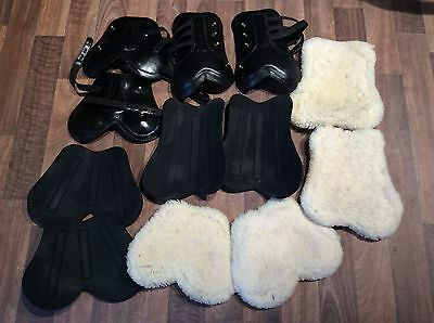 Removable Sheepskin and Neoprene Tendon And Fetlock Boots Cob Size
