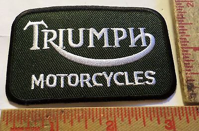 Vintage Triumph logo patch motorcycle collectible old biker emblem memorabilia