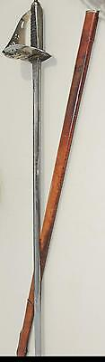 GEORGE V SWORD with LEATHER SCABBARD ROYAL ARTILLERY NUMBERED BLADE by WILKINSON