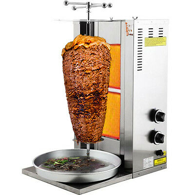 Automatic 2 Burner Shwarma Machine with motor 110v/220v TurcoBazaar Shawarma