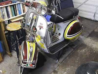Vespa PX 125 ,2003 ,Piaggio Scooter Moped,Mod number plate.