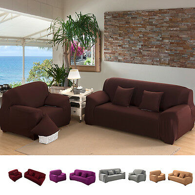 Stretch Chair and Sofa Cover 1/2 Seater Protector Couch Cover Slipcover Assorted