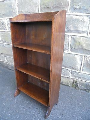Antique Oak Open Bookcase Bookshelves