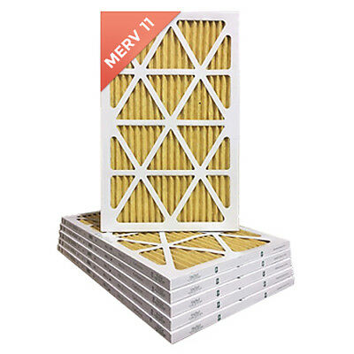 16X25X1 MERV 11 Pleated AC Furnace Air Filters. 12 Pack