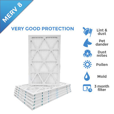 14x25x1 MERV 8 AC Furnace Air Filters.   12 Pack