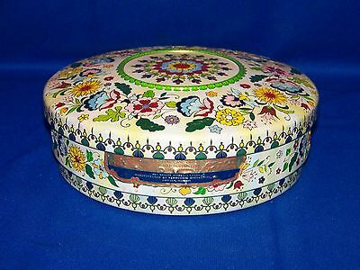 Vintage Round Floral Candy Tin Made In Holland In Great Used Condition