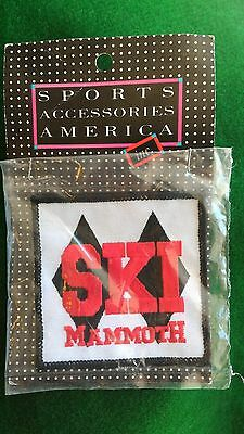 """New Old Stock MAMMOTH MOUNTAIN Vintage Skiing Ski Patch CALIFORNIA CA  3"""""""
