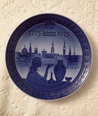 Retro Royal Copenhagen, Denmark; Commemorative Bicentenary Plate; 1775-1975
