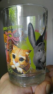"McDonald's Shrek the Third Glass ""Donkey and Puss In Boots"""
