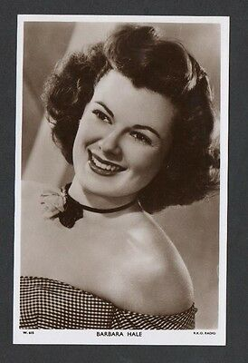 Barbara Hale Picturegoer W Series Film Star Cinema Actress Postcard No W 615
