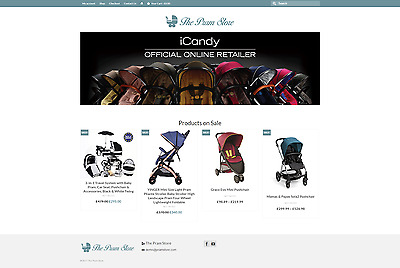 """Fully Stocked """"BABY PRAM"""" Dropshipping Website Business. High Profit."""