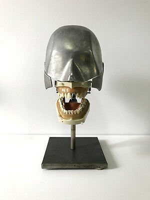 Vintage Aluminum Dental Phantom Dental Medical Manikin Columbia Dentoform