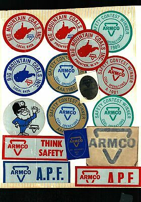 Huge Lot Of 100 Different Armco Coal Co. Coal Mining Stickers